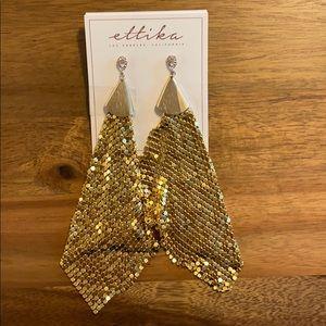 Never worn!!! Large Ettika Earrings